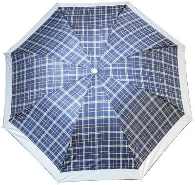 LUXANTRA Yellow 2 Line 3 Fold Umbrella