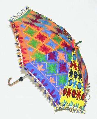 Lal Haveli Jaipuri Embroidery Work Umbrella