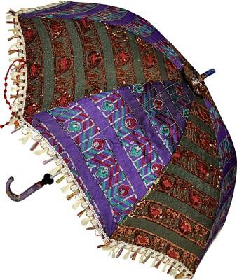 Lal Haveli Ladies Ethnic Designer Cotton Single Fold Umbrella