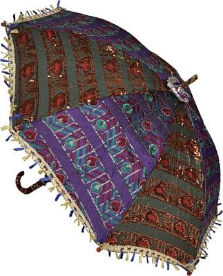 Lal Haveli Ethnic Embroidery Design Single Fold Umbrella