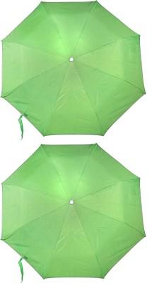 ZARSA Set of 2 Green 8 Stick Umbrella