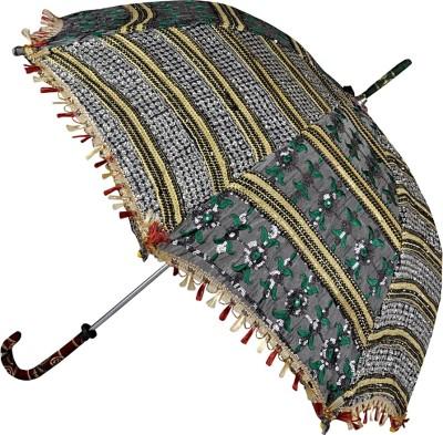 Lal Haveli Sequins Design Zari Work Single Fold Summer Umbrella