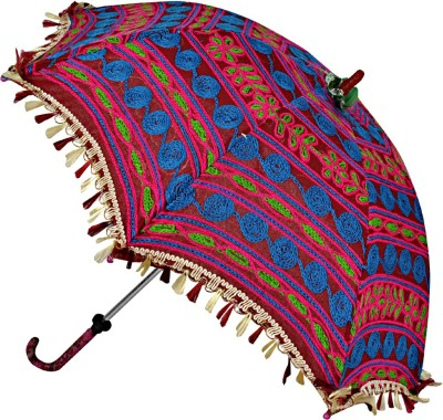 Lal Haveli Rajasthani Wedding Decoration Umbrella(Maroon)