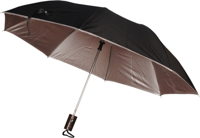 Bs Spy Crystal Nylon Black 2 Fold Umbrella(Black)