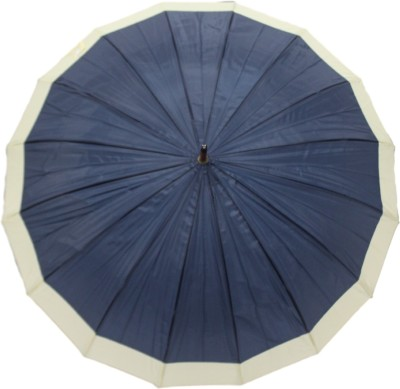 DesiCult Cane Maharaja Navy Blue Umbrella