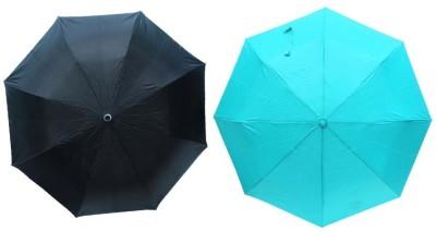MISTOB Mist Umbrella(Black and sky blue)