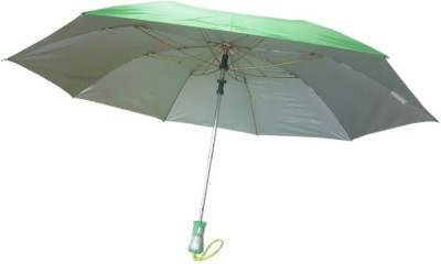 Fendo Auto Open 2 Fold Nylon Women Strawberry _h Umbrella(Green)