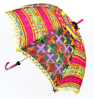 Lal Haveli Hand Crafted Parasol Cotton Embroidery Work Summer Umbrella