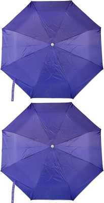 Bemoreee 3 Fold Blue - Set of 2 Umbrella