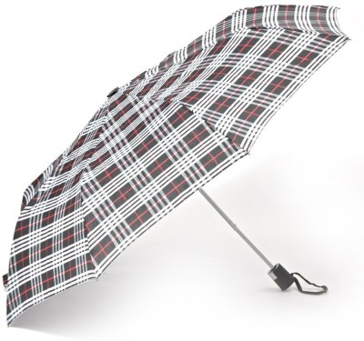 Bizarro Multicolors Checks- 3-Fold Umbrella