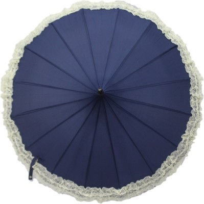 DesiCult Pagoda Lace Navy Blue Umbrella