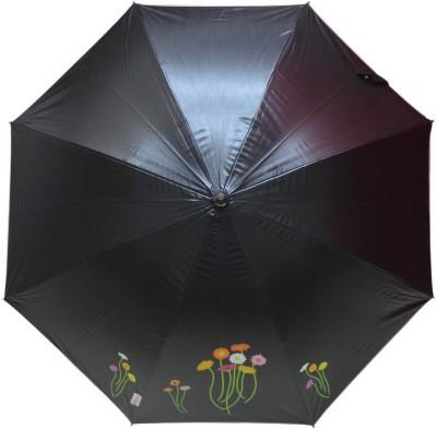 Murano Stairght Black Color Daisy Flower Stylish_400161_A Umbrella