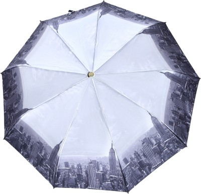 Asera Automatic Printed Umbrella Umbrella(Grey)