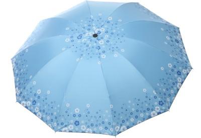 Modish Vogue UM_BDR FLWR_DARK BLUE Umbrella