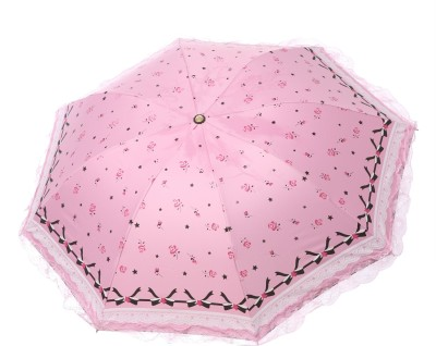 Modish Vogue UM_NET FRILL_BABY PINK Umbrella