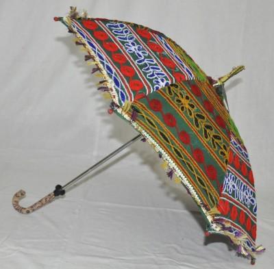 Lal Haveli Embroidery Work Designer Cotton Umbrella