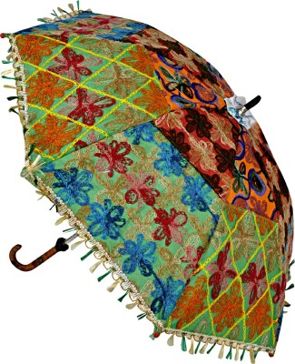 Lal Haveli Rajasthani Wedding Decoration Umbrella(Multicolor)