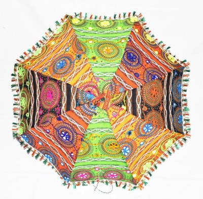 Lal Haveli Beautiful Ethnic Handmade Sequin Embroidered Umbrella(Multicolor)