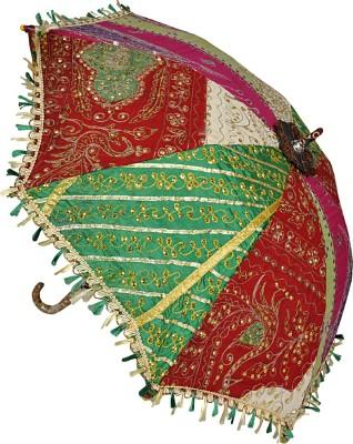 Lal Haveli Decorative Embroidery Work Fashionable Single Fold Summer Umbrella