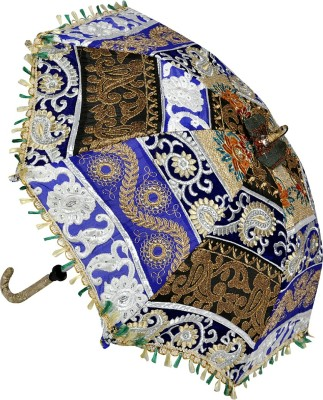 Lal Haveli Rajasthani Handmade One Fold Cotton Designer Umbrella