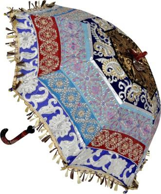Lal Haveli Womens Ethnic Fashionable Cotton Summer Single Fold Umbrella