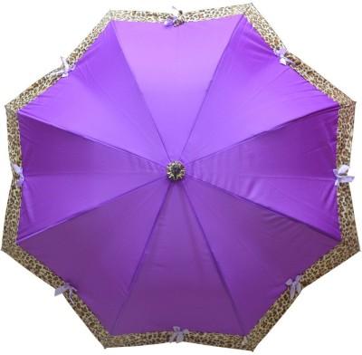 Murano Stright Purple Color Leopard Design Fashion_400127_B Umbrella