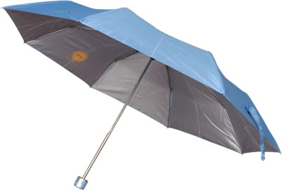 Bs Spy Pakiza Nylon Blue 3 Fold Umbrella