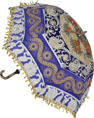 Lal Haveli Jaipuri Handmade Cotton Single Fold Designer Umbrella