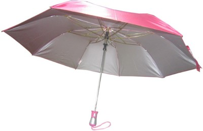 Fendo Auto Open 2 Fold Nylon Women Strawberry _a Umbrella(Pink)