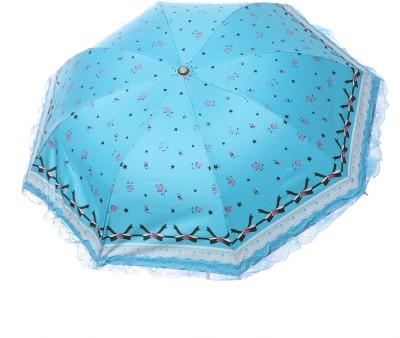 Modish Vogue UM_NET FRILL_N BLUE Umbrella