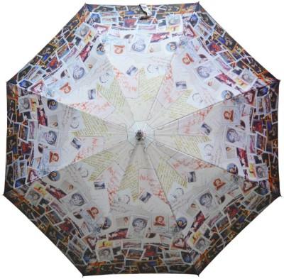 Murano Single fold metal piano windproof Designer printed 400164_B Umbrella