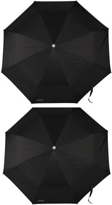 Bizarro Plain Combo-3-Fold Heavy Quality (Set of 2) Umbrella