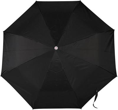 PeepalComm 3 Fold Black Umbrella