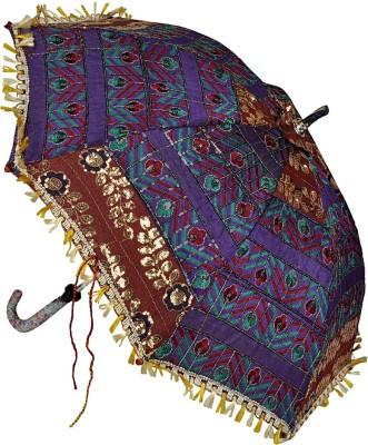 Lal Haveli Single Fold Cotton Designer Umbrella