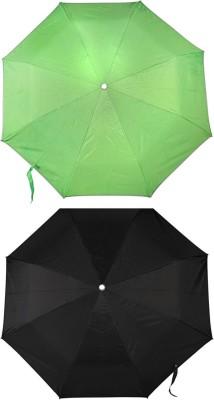 ZARSA 1 Black and 1 Green set of 2 Umbrella