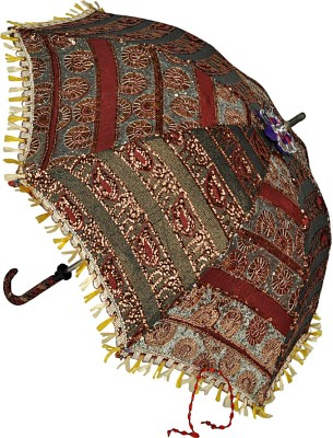 Lal Haveli Handmade Cotton Parasol Fashionable Single Fold Designer Umbrella