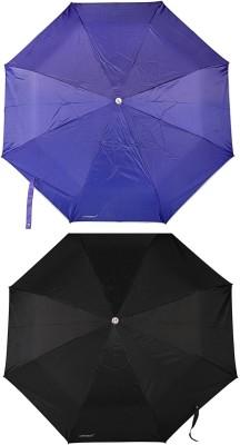 Bizarro Plain Combo-3-Fold Heavy Quality (Set of 2) Umbrella