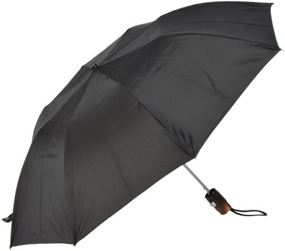 4Play Polyester 2 Fold 24 inch black umbrella Umbrella