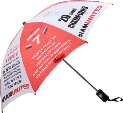 Invezo Impression Invezo Impression Red Manchester United 3 fold Automatic Umbrella Umbrella