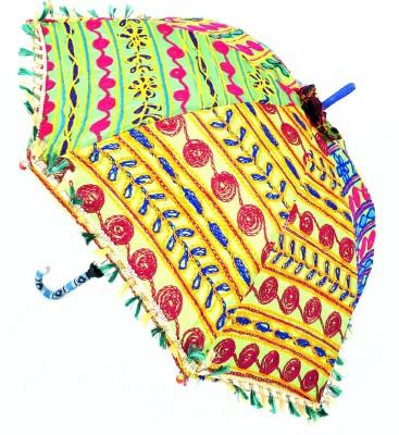 Lal Haveli Embroidery Work Cotton Colorful Sun Umbrella