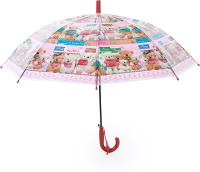 Luggage Kart Blue Teddy Bear Umbrella Umbrella