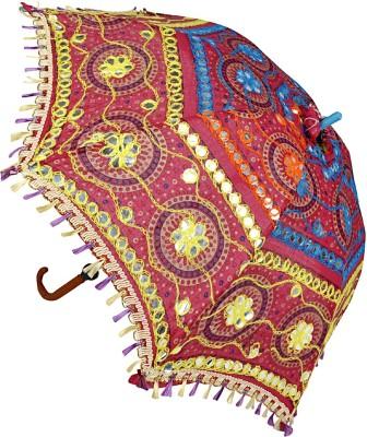 Lal Haveli Womens Cotton Sun Designer Umbrella