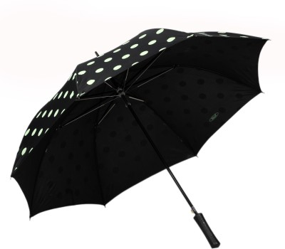TELLO Single Fold Polka Dots Black Umbrella