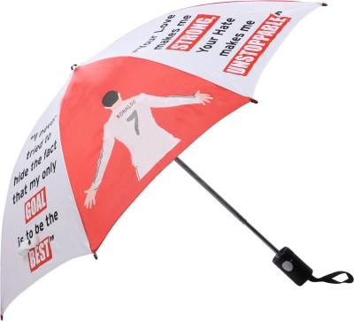 Invezo Impression Invezo Impression Red Cristiano CR7 3 fold Automatic Umbrella Umbrella