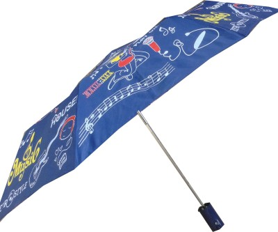 Cheeky Chunk Music Doodle Umbrella(Multicolor, Blue)
