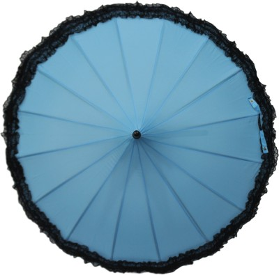 DesiCult Pagoda Lace Blue Umbrella