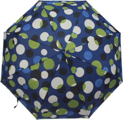 Happy Swan 3617A Polka Bubbles Umbrella(Navy Blue)