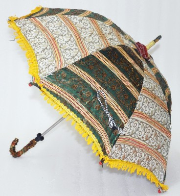 Lal Haveli Colorful Embroidery Work Cotton Hand Made Umbrella