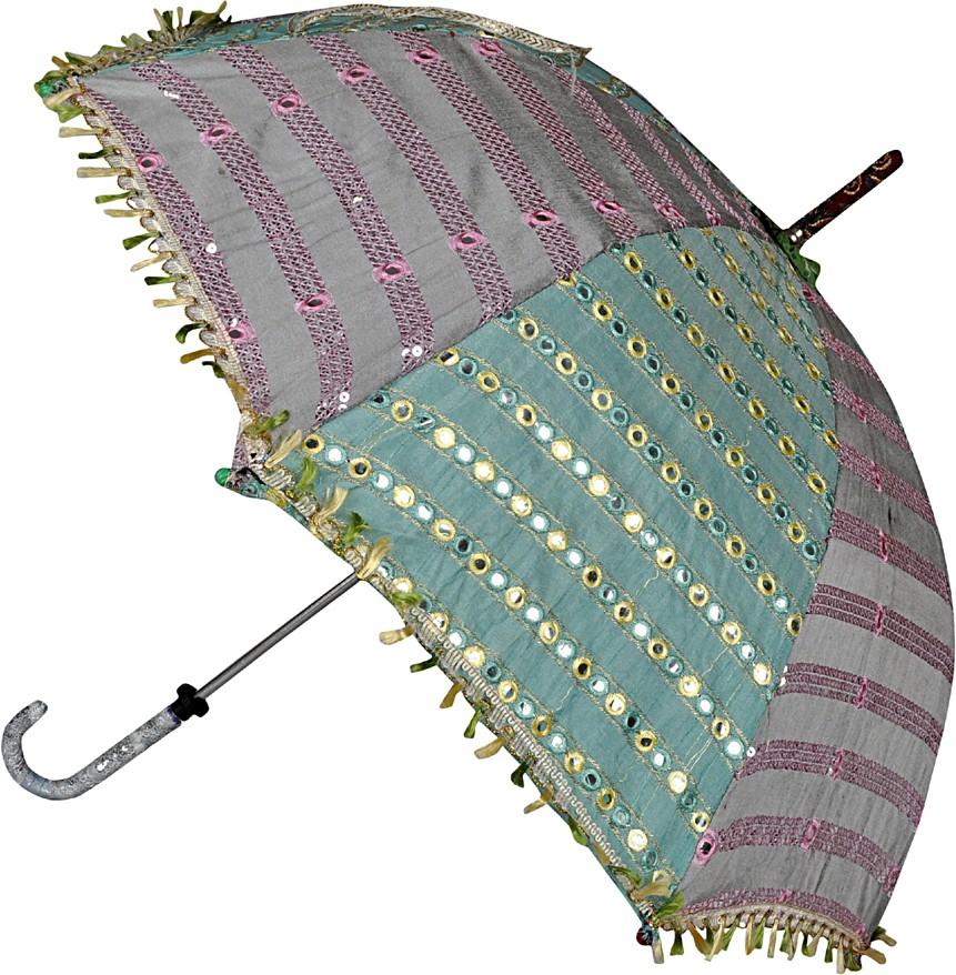 254da9fbcb095 Lal Haveli Floral Sequins Design Zari Work Single Fold Small Sun Umbrella