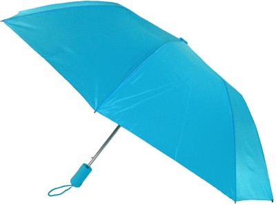 Beaut Mono Silver B015943 - Blue, 3 Fold Umbrella